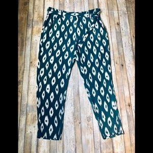 Equipment femme high waisted silk crop pants 4